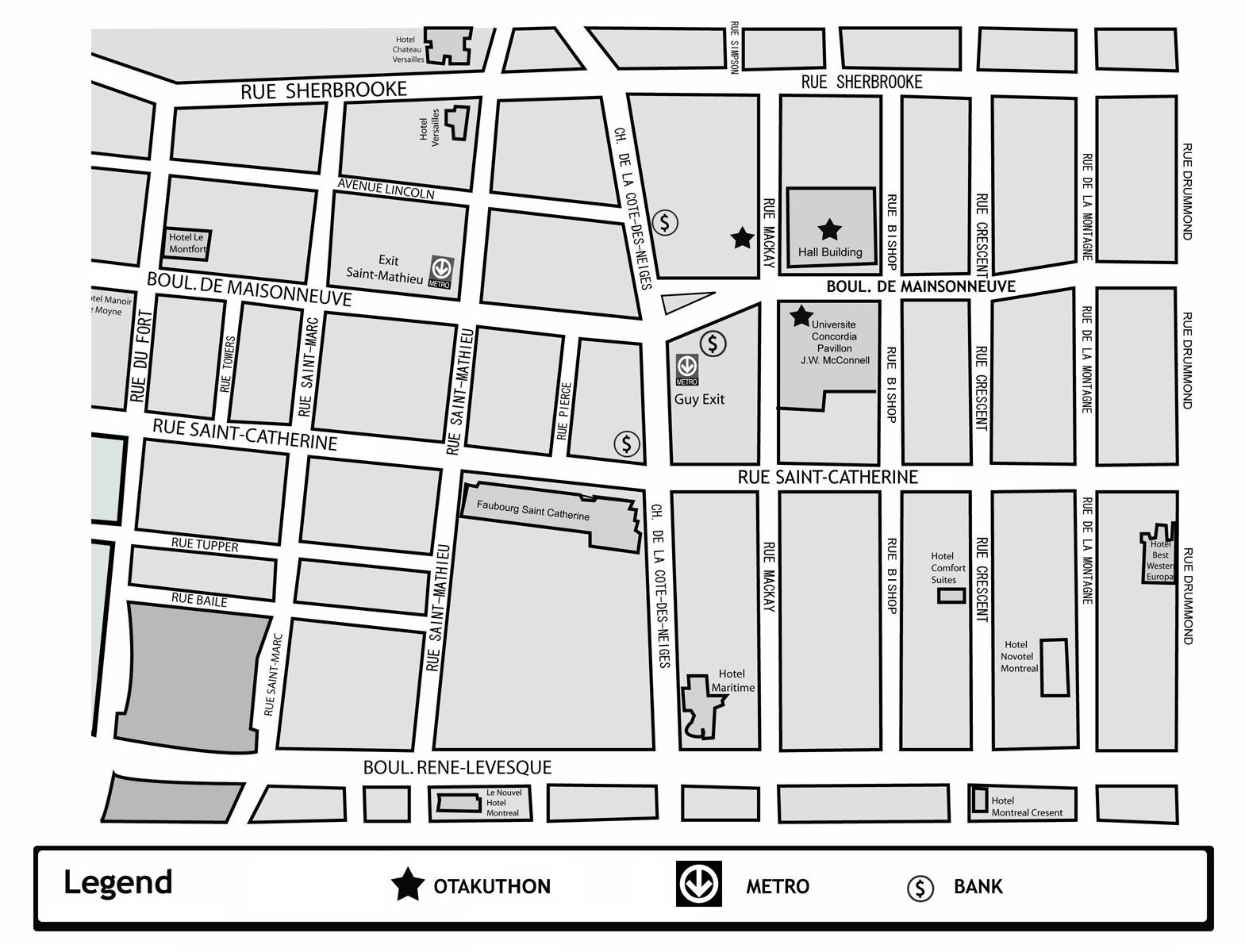 Otakuthon 2007 location msn local live maps to concordia university larger area map google maps publicscrutiny Images